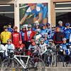 Colorful team spirit on Sunday morning, Lago di Garda, Italy