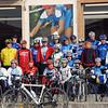 Colorful team spirit on Sunday morning, Lago di Garda, Italy