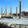 Antonine temple at Roman settlement of Sabratha along the northwest coast of Libya