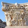 Ornate marble Roman capital at Sabratha, Libya