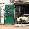 Rural roadside exhaust store, Libya