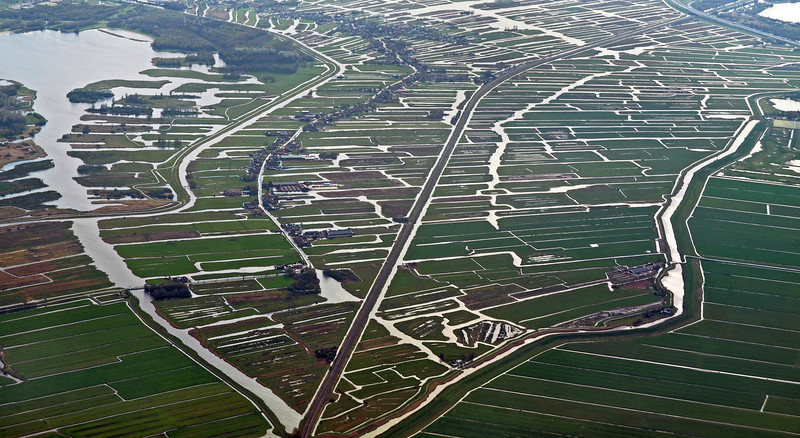 The polder of Oostzaan in the province of North Holland, The Netherlands