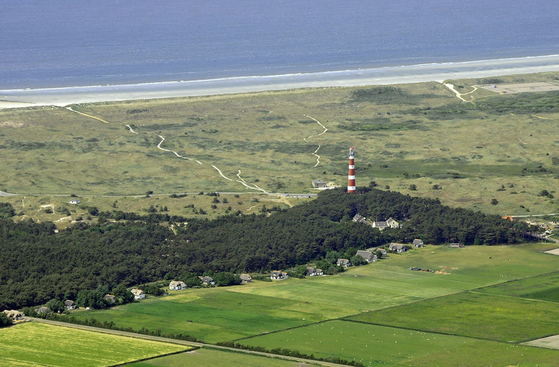 Castiron lighthouse of Bornrif (1880) on the island of Ameland, The Netherlands