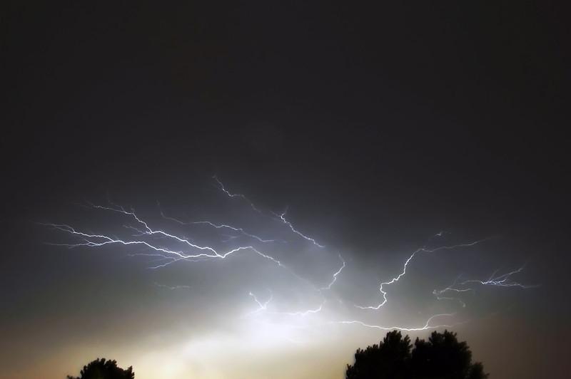 Cloud to cloud lightning near Leiden, The Netherlands