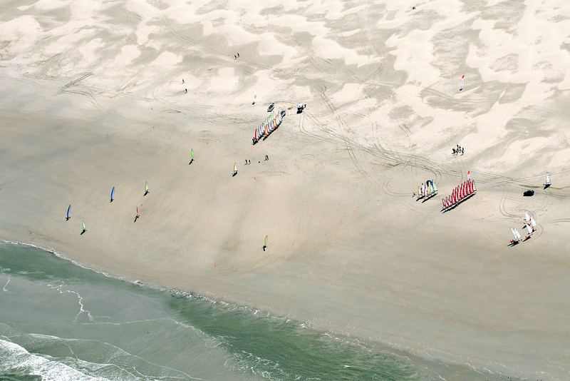 Beach races at low tide on the island of Terschelling, The Netherlands
