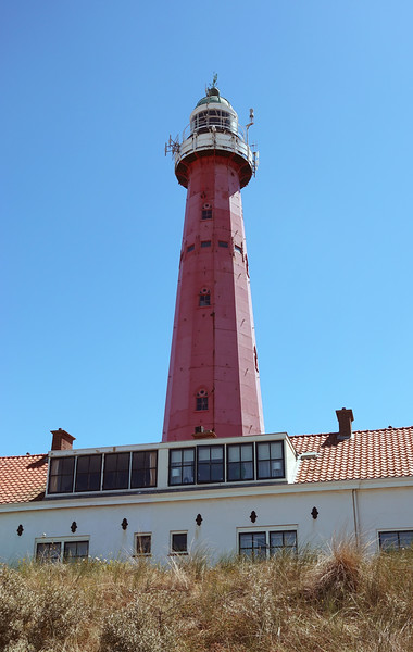Twelve-sided castiron lighthouse (completed in 1875) along the coastal boulevard in Scheveningen, The Netherlands