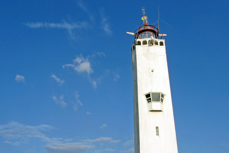 Defunct lighthouse along the North Sea coast in Noordwijk, The Netherlands