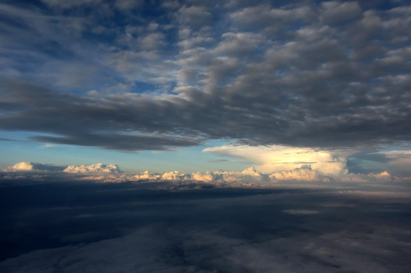 Thunderclouds above the North Sea, The Netherlands