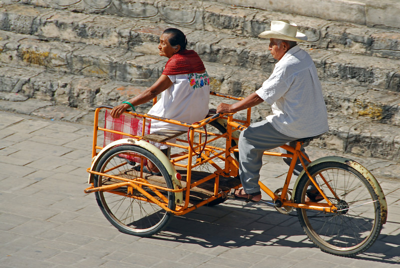 Heading for the open air market in Izamal, Yucatan peninsula, Mexico