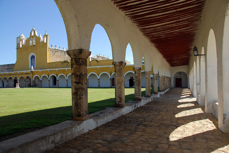 Franciscan convent (16th C.) in Izamal on the Yucatan peninsula, Mexico