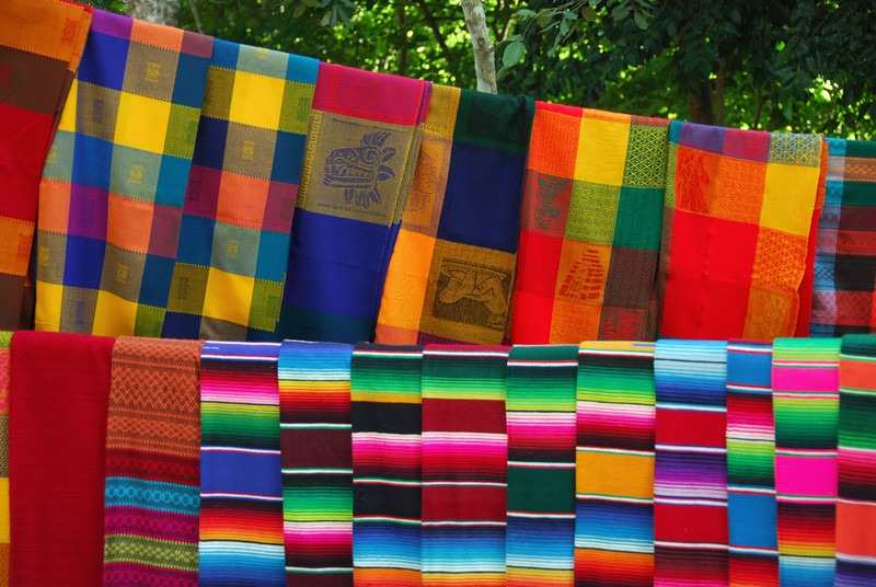 Traditional textiles in Yucatan, Mexico