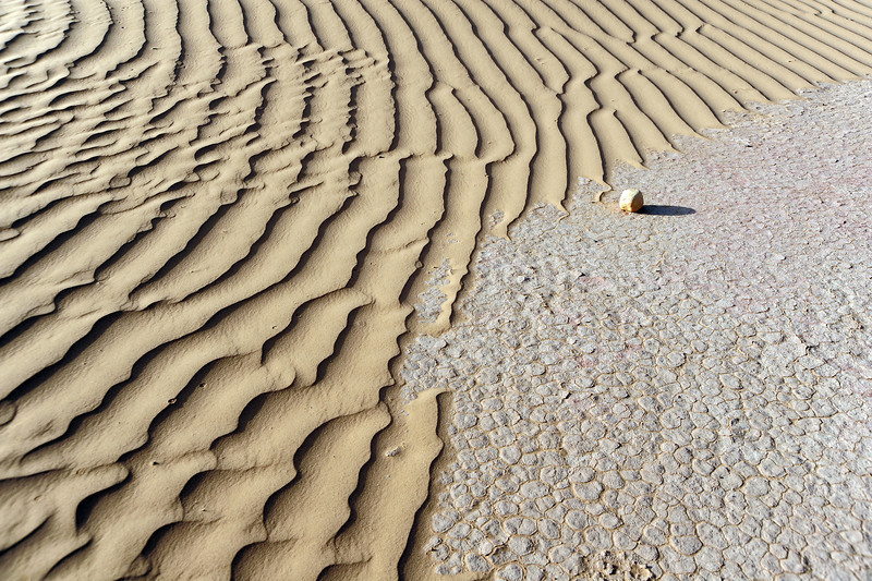 Sand ripples on the edge of the Sahara near M'hamid, southernmost Morocco