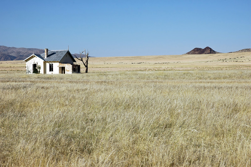 Abandoned railway station of Garug in southwest Namibia