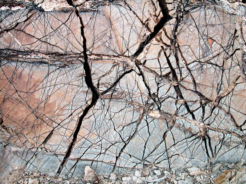Fractured rocks in the Jebel Akhdar, Oman