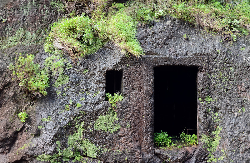 Dwelling in ancient lava flow on Madeira, Portugal