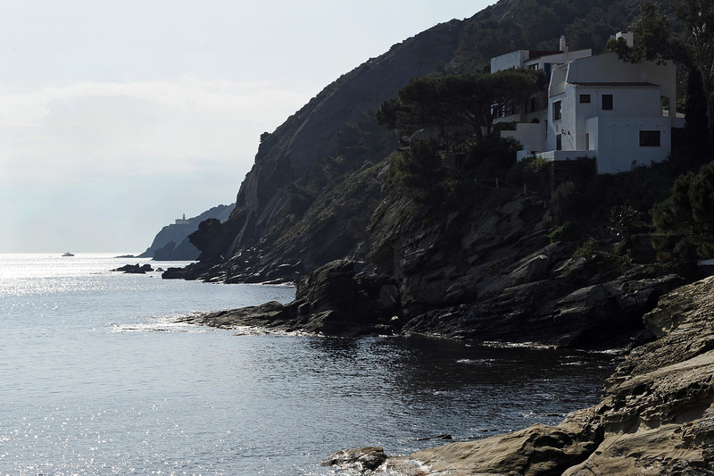 Cliffs and Calanans lighthouse near Cadaques, northeast Spain