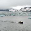 Researchers returning to base from the Stor glacier (inner Hornsund), Svalbard