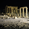 Desert night over the Baal Shamin temple (destroyed in 2015) in Palmyra, Syria