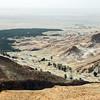Folded foothills near Tamerza, with view towards Chott El Gharsa, Tunisia