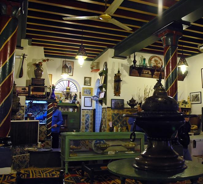 Tea house interior in Sidi Bou Said, Tunisia