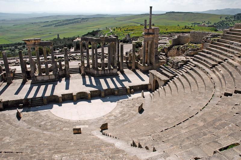 Theatre at the Roman city of Dougga, Tunisia