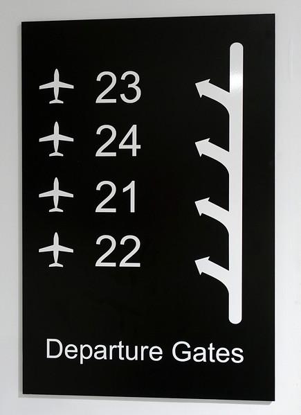 Perfect logic at London's City Airport, UK