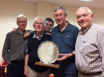 2016/17 Gerard Faulkner Salver winners - Tony McNiff, Bill Townsend, Dave Robinson, Richard Edwards & Robert Ross.