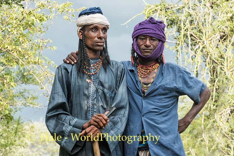 Wodaabe Men Under A Threatening Sky