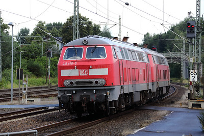 218 470 (92 80 1218 470-3 D-DB) at Itzehoe on 6th August 2017 (3)