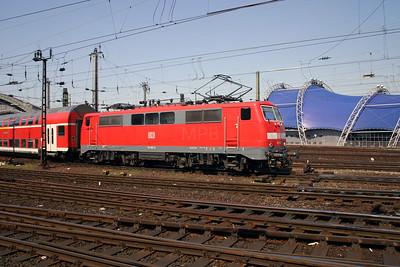 111 011 at Koln Hbf on 12th April 2004