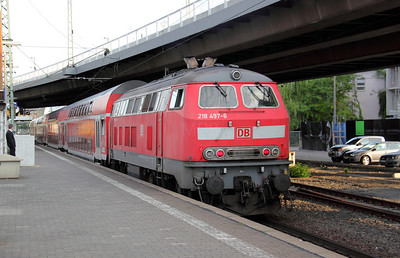 218 497 at Frankfurt (main) West on 6th August 2010 (3)