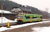 1) RBG, VT23 (95 80 0650 558-7 D-RBG) at Grafenau on 13th February 2011 working RB59862 1200 Grafenau to Zwiesel