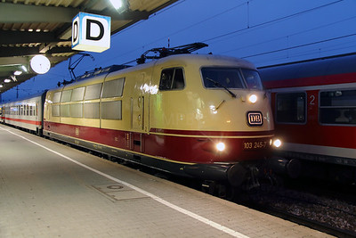 103 245 (91 80 6103 245-7 D-DB) at Augsburg HBF on 7th February 2014 working IC2094