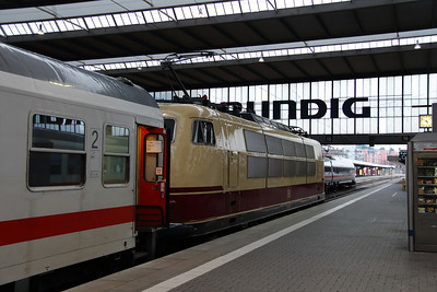 1) 103 245 (91 80 6103 245-7 D-DB) at Munchen HBF on 7th February 2014 working IC2094