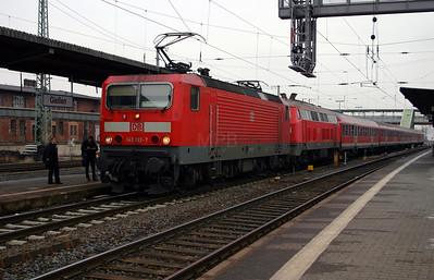 143 133 & 218 481 at Gieben (Giessen) on 21st February 2005