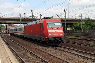 101 128 (91 80 6101 128-7 D-DB) at Hamburg Harburg on 15th July 2013 working IC2327