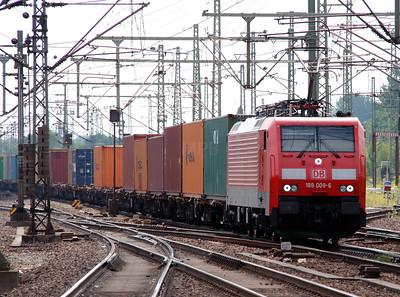 1) 189 008 (91 80 6189 008-6 D-DB) at Hamburg Harburg on 15th July 2013