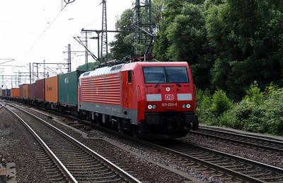 2) 189 008 (91 80 6189 008-6 D-DB) at Hamburg Harburg on 15th July 2013