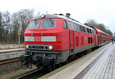218 470 (92 80 1218 470-3 D-DB) at Scharbeutz on 20th March 2016 (1)