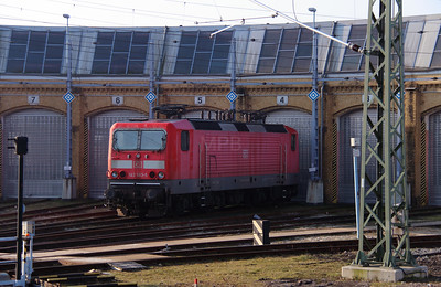 143 563 (91 80 6143 563-5 D-DB) at Leipzig Hbf Depot on 18th March 2016 (2)