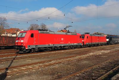185 217 (91 80 6185 217-7 D-DB) at Konigs Wusterhausen on 16th March 2016 (2)