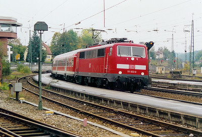 111 022 at Traunstein on 12th October 2003