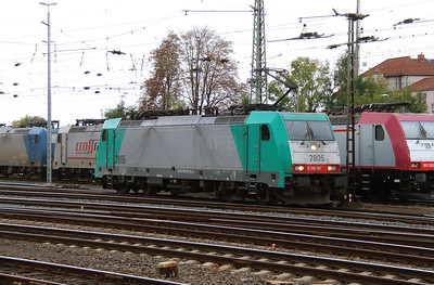 SNCB, 2805 (91 88 7186 197-0 B-B) at Aachen West on 6th October 2014 (1)
