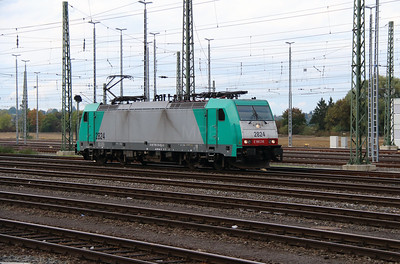 SNCB, 2824 (91 88 7186 216-8 B-B) at Aachen West on 6th October 2014