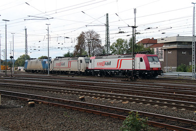 Crossrail, 185 593 (91 80 6185 593-1 D-XRAIL) at Aachen West on 6th October 2014 (2)