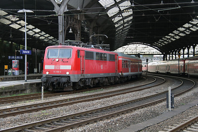 111 158 (91 80 6111 158-2 D-DB) at Aachen Hbf on 6th October 2014 (3)