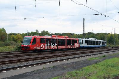 Rurtalbahn, 6 005 1 (95 80 0654 005-7 D-RTB) at Duren on 6th October 2014 (3)