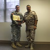 Jason receiving his award from the  German SGT Major!