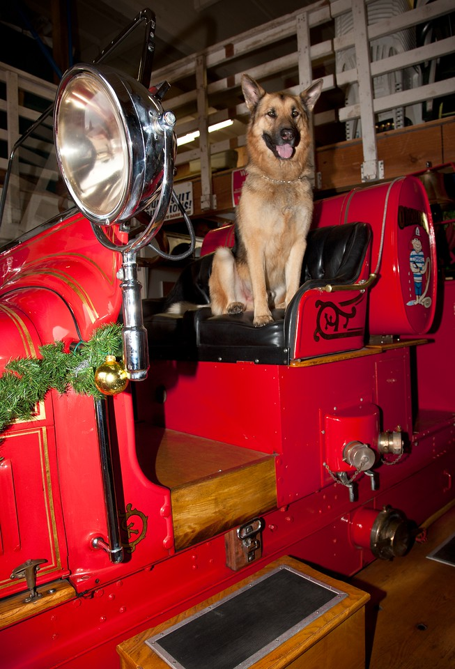 OMBAC FIRE ENGINE AT CHRISTMAS