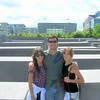 With Belen and Ines at the Holocaust Memorial